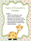 Types of Ecosystems Foldable