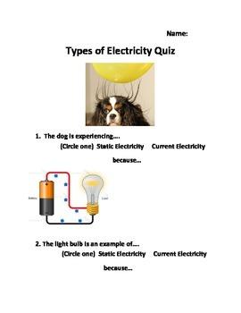 Types of Electricity Quiz