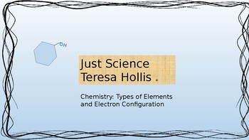 Types of Elements and Electron Configuration