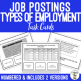 Types of Employment Task Cards