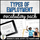 Unit 2 Types of Employment - Vocabulary Packet