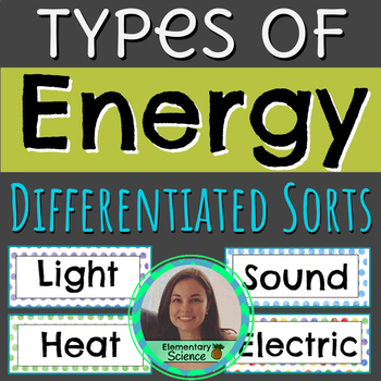 Types of Energy Activities | Paper & Digital | NGSS