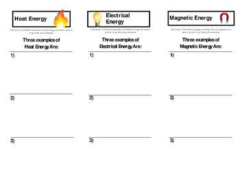 Types of Energy - Brochure
