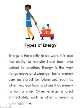 Types of Energy Brochure Activity