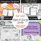 Types of Energy Bundle: Flip-book and Pocket Chart Sentences