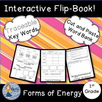 Types of Energy Bundle: Flip Book and Pocket Chart Sentence Builders