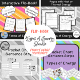 Types of Energy Bundle: Flip-book and Pocket Chart Sentences