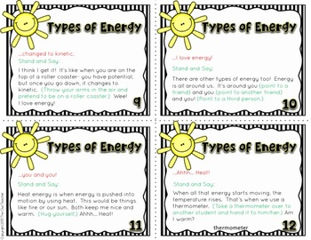Types of Energy Causation Cards