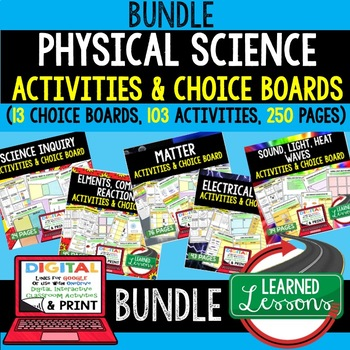 Types of Energy Activities and Choice Board, Digital, Google