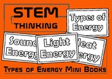 Types of Energy Color and Learn Mini Foldable Books, Elementary Science