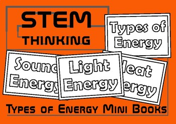 Types of Energy Color and Learn Mini Foldable Books, Eleme