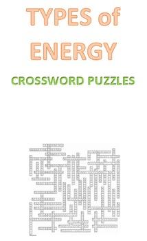 Types of Energy Crossword Puzzles