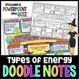 Types of Energy Science Doodle Notes with PowerPoint & Quiz