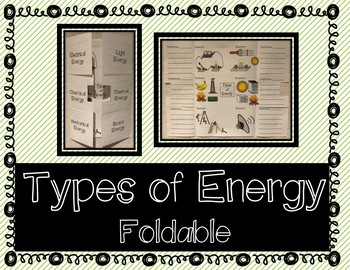 Types of Energy -  Interactive Notebook / Foldable