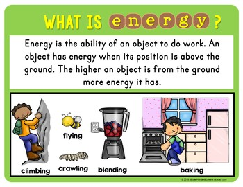 Types of Energy - Mechanical, Potential & Kinetic Energy Posters