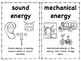 Types of Energy Mini Booklet