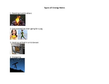 Types of Energy Notes