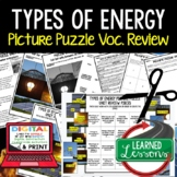 Types of Energy Picture Puzzle Study Guide Test Prep (Physical Science)