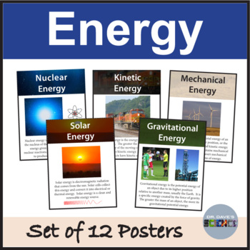 Types of Energy Posters