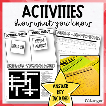 Types of Energy: Posters and Activity Puzzles