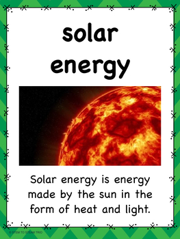 Types of Energy Posters for upper elementary and middle school