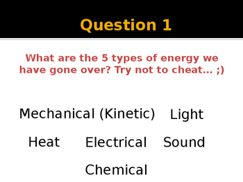 Types of Energy Review