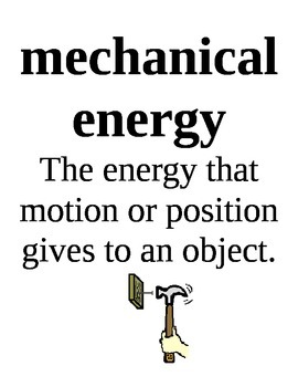 Types of Energy Science Vocabulary Posters