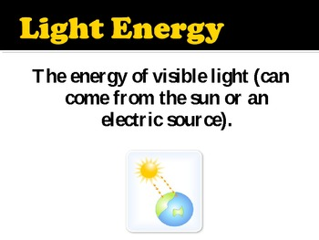 Types of Energy Slide Show