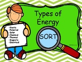 Types of Energy Sort Game- Kinetic, Potential, Solar, etc.