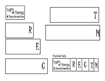 Types of Energy Transformation Foldable