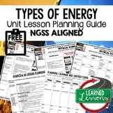 Types of Energy Lesson Plan Guide for NGSS Science, BACK T