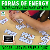Forms of Energy Vocabulary Puzzles