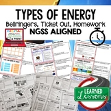 Types of Energy Warm Ups & Bell Ringers, NGSS 6-8 Science,