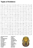 Types of Evidence Word Search