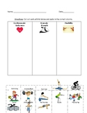 Types of Exercise Sorting Worksheet