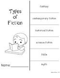 Types of Fiction Foldable