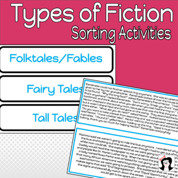 Types of Fiction Sorting Activities