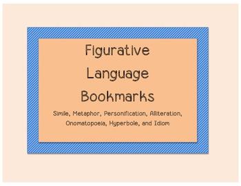 Types of Figurative Language Bookmark