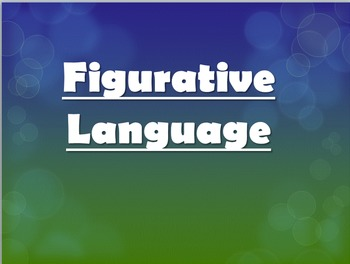 Types of Figurative Language Lesson