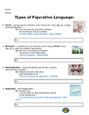 Types of Figurative Language Notes
