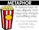 Types of Figurative Language Posters (Popcorn Themed)