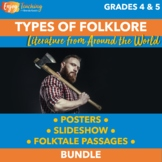 Types of Folklore Posters, PowerPoint, and Note Sheets