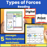 Types of Forces Guided Reading   Close Read