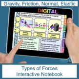 Types of Forces (friction, gravity, tension, and more) Digital Notebook