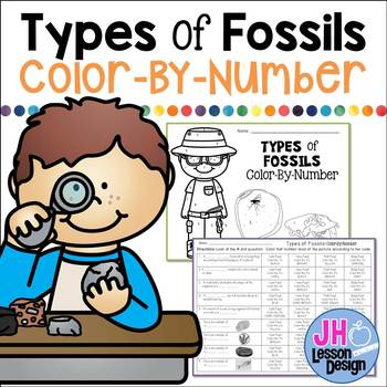 Fossils: Color-By-Number