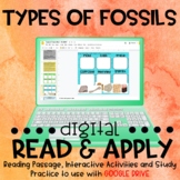 Types of Fossils DIGITAL Read and Apply