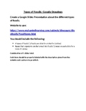 Types of Fossils Google Slides Assignment