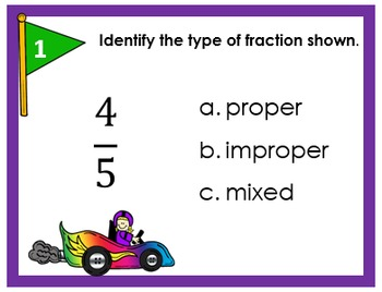 Types of Fractions Task Cards