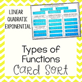 Types of Functions - Linear, Quadratic, & Exponential