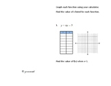 Types of Functions Foldable